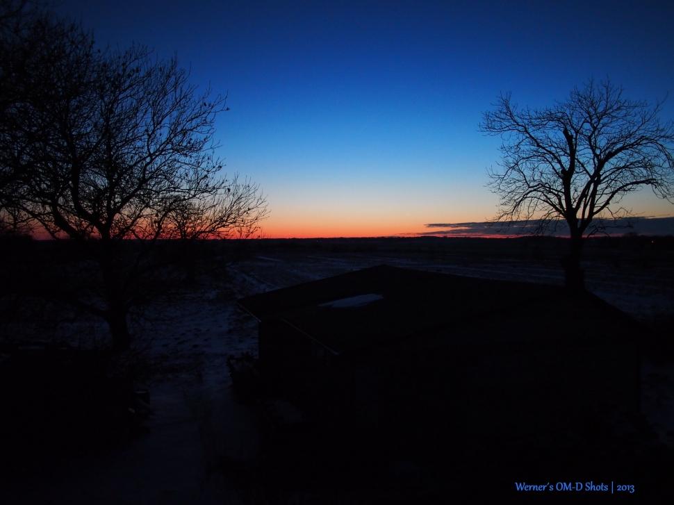 very cold sundown