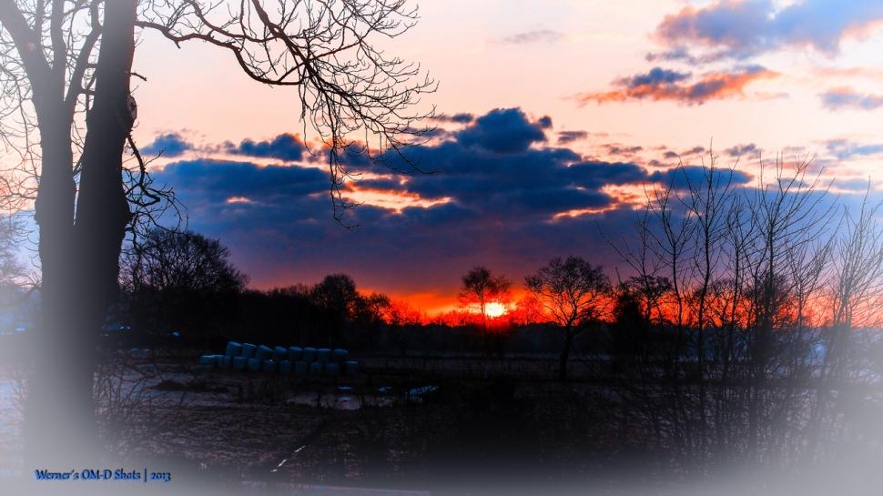 glowing red daybreak